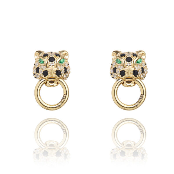 Monaco Mini Ear Emerald Stone