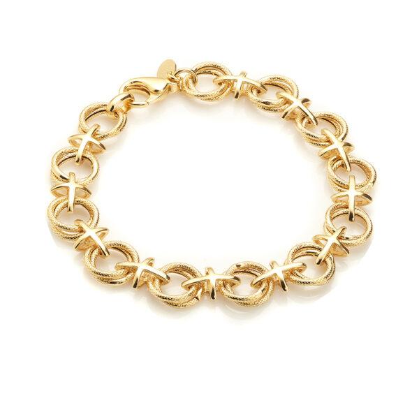 Chros round a ring brace gold