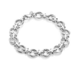 Chros round a ring brace silver