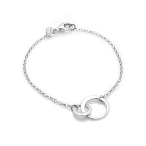Thin Loops Brace Silver